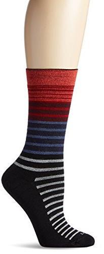 Sockwell Women's Plantar Ease Crew Socks, Black 2, Medium/