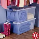 Large Plastic Tote STORAGE BIN Container Clear Stackable Box