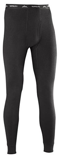 ColdPruf Men's Basic Dual Layer Bottom, Black, Large