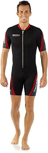 Cressi Playa 2.5mm Men's Front Zip Shorty Wetsuit, BL-2XL