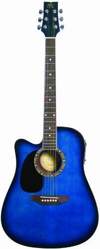 JB Player JBEA25TBL Acoustic Electric Guitar, Transparent