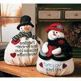 Plush Mr. & Mrs. Softy The Snowman Set