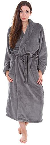 Simplicity Unisex Plush Spa Hotel Kimono Bath Robe Bathrobe