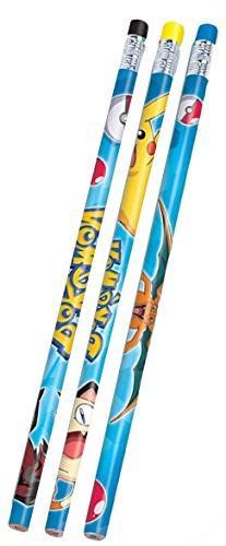 12 Count Pokemon Pencil Favors, Multicolor