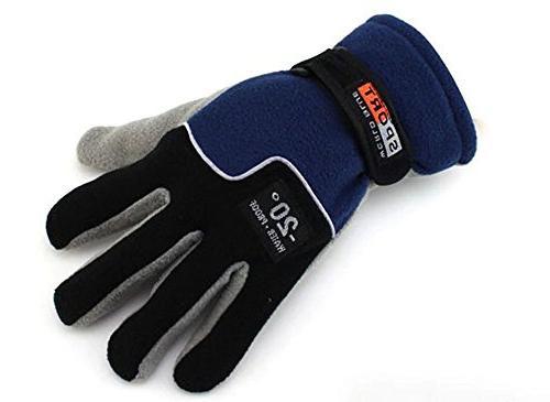 OSdream Men's Polar Fleece Gloves Warm Gloves