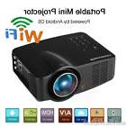 """Portable 100&"""" LED Wifi Android Projector Multimedia 3D Home"""