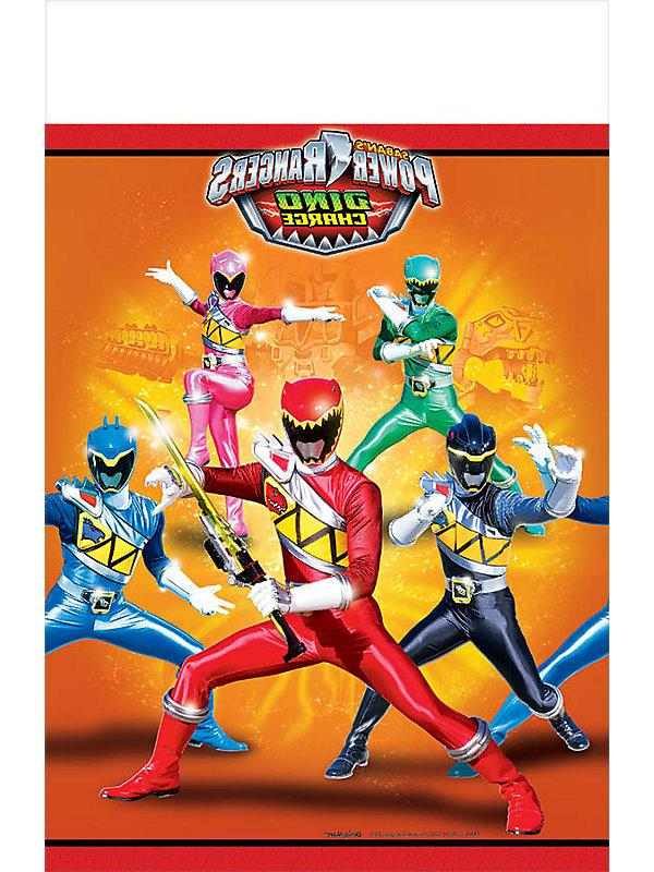 Power Rangers Dino Charge Plastic Table Cover