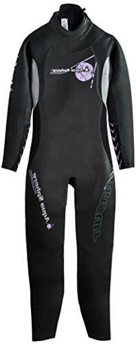 Aqua Sphere Women's Powered Pursuit Wet Suit, Black, Medium