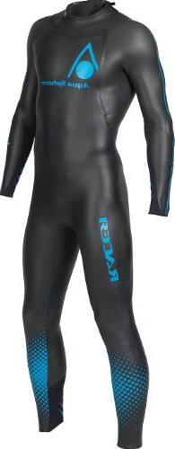 Aqua Sphere Powered Racer Wet Suit, Black/Blue, Large