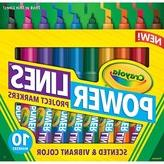 Crayola 10ct PowerLines Washable Markers