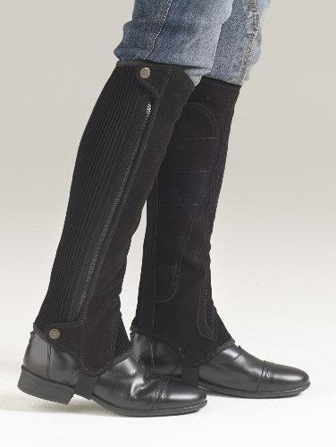 Ovation Women's Precision Fit Suede Half Chaps Black C16H16