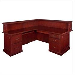 regency prestige right reception desk mahogany boss office products plexiglass reception