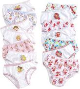 Disney Girls' 7-Pack Princesses or Ariel Cotton Underwear