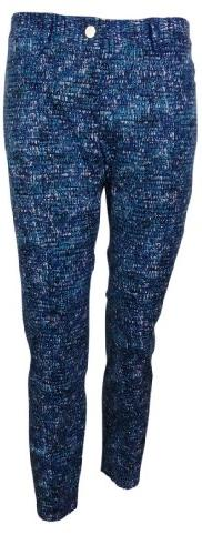 DKNYC Women's Printed Five Pocket Ankle Pant