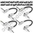 "4-Pack Hosa 6"" Low Profile Guitar Right Angle Patch Cables 1"