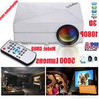 5000 Lumens LED Projector Home Theater USB TV 3D HD 1080P Business VGA/HDMI YKS1