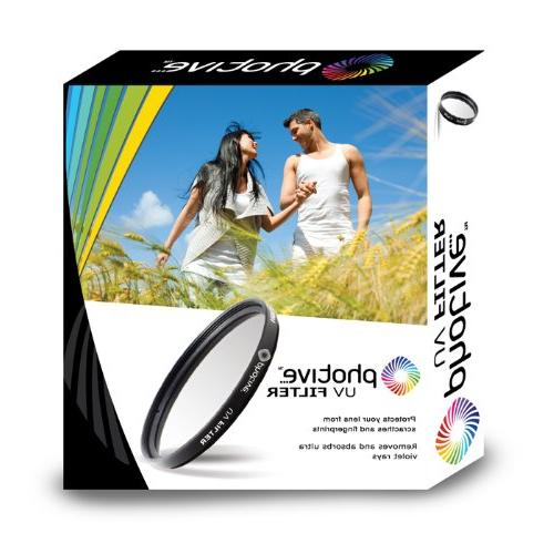 Photive 55mm Multi-Coated UV Filter- UV55HD