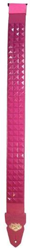 LM Products PS-201PST Studded Guitar Strap, Pink