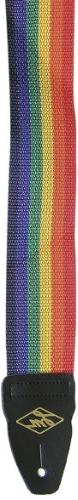 LM Products PS3RB 2-Inch Adjustable Guitar Strap, Rainbow