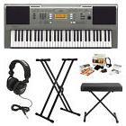 Yamaha PSRE353 Portable Keyboard w/ Bench, Stand, Headphones