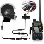 1Pcs 2 Pin PTT Motorcycle Helmet Headset for two way radio