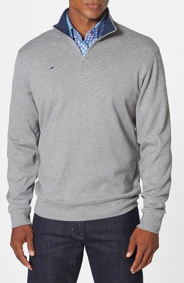 Men's Vineyard Vines Quarter Zip Cotton Jersey Sweatshirt,