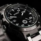 INFANTRY Mens Quartz Wrist Watch Date Gunmetal Black