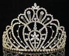 QUEEN RHINESTONE CRYSTAL CROWN TIARA W/ COMBS PAGEANT PROM