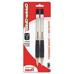 ** Quicker Clicker Mechanical Pencil, 0.5 mm, Smoke, 2/Pk