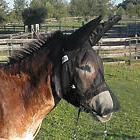 QUIET RIDE MULE DONKEY FLY MASK with LONG NOSE and LONG EARS