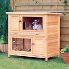 Rabbit Hutch Large  2 Story For Outdoor Indoor Lodge Bunny