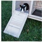 Rabbit Hutch House Cage Habitat Whitewash Wood Bunny Small