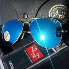 NEW  RAY BAN AVIATOR RB3025 112/4L 58mm POLARIZED BLUE