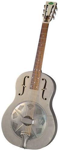Regal RC-43 Metal Body Triolian Guitar - Antiqued Nickel-