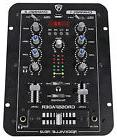 Rockville RDJ2 2 Channel DJ Mixer with USB, Cue Monitor,