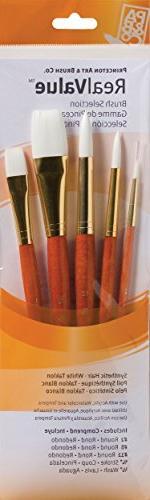Princeton Art & Brush Real Value Synthetic Brush Set, Round