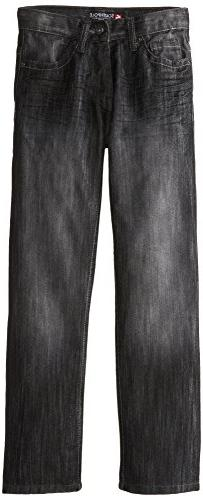 Southpole - Kids Big Boys' Regular Straight Fit Denim In