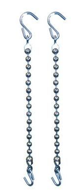 Rein Chain With Balls, Stainless Steel Hooks - Stainless