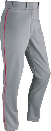 Wilson Youth Classic Relaxed Fit Piped Baseball Pant, Grey/