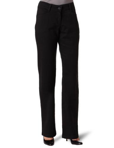 Women's Relaxed Fit Plain Front Straight Leg Pant- String,
