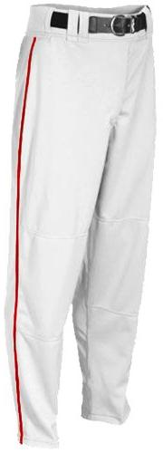 Rawlings Youth Relaxed Fit YBP350MRP Piped Baseball Pant,