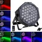 Remote 36LED 36W RGB 7Channel High Bright PAR Light Wash