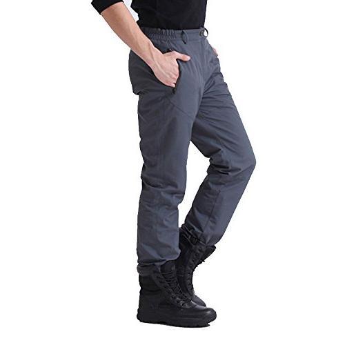Free Knight Men's Removable Fleece Lined Pants Windproof