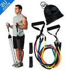 11 PCS Resistance Band Set Yoga Pilates Abs Exercise Fitness