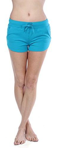 Emmalise Women's Retro Vintage Exercise Yoga Active Shorts,