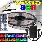 5M RGB 5050 LED Strip light SMD 44 Key Remote 12V US Power
