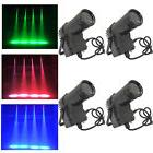 4-Pack 10W RGBW Beam LED Stage Light DMX Pin Spot DJ Disco
