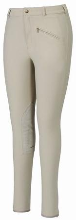 TuffRider Women's Ribb Knee Patch Breeches , Navy, 36
