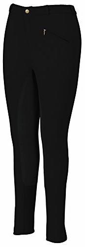 TuffRider Women's Ribb Lowrise Full Seat Breeches , White,