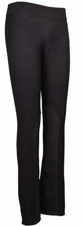 TuffRider Women's Ribbed Boot Cut Tights Breech, Black, 24